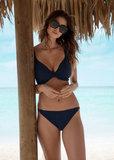 Fantasie Long Island Plunge Bikinitop Donkerblauw