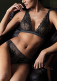 Wacoal Lace Perfection Bralette Charcoal WE135008CHL